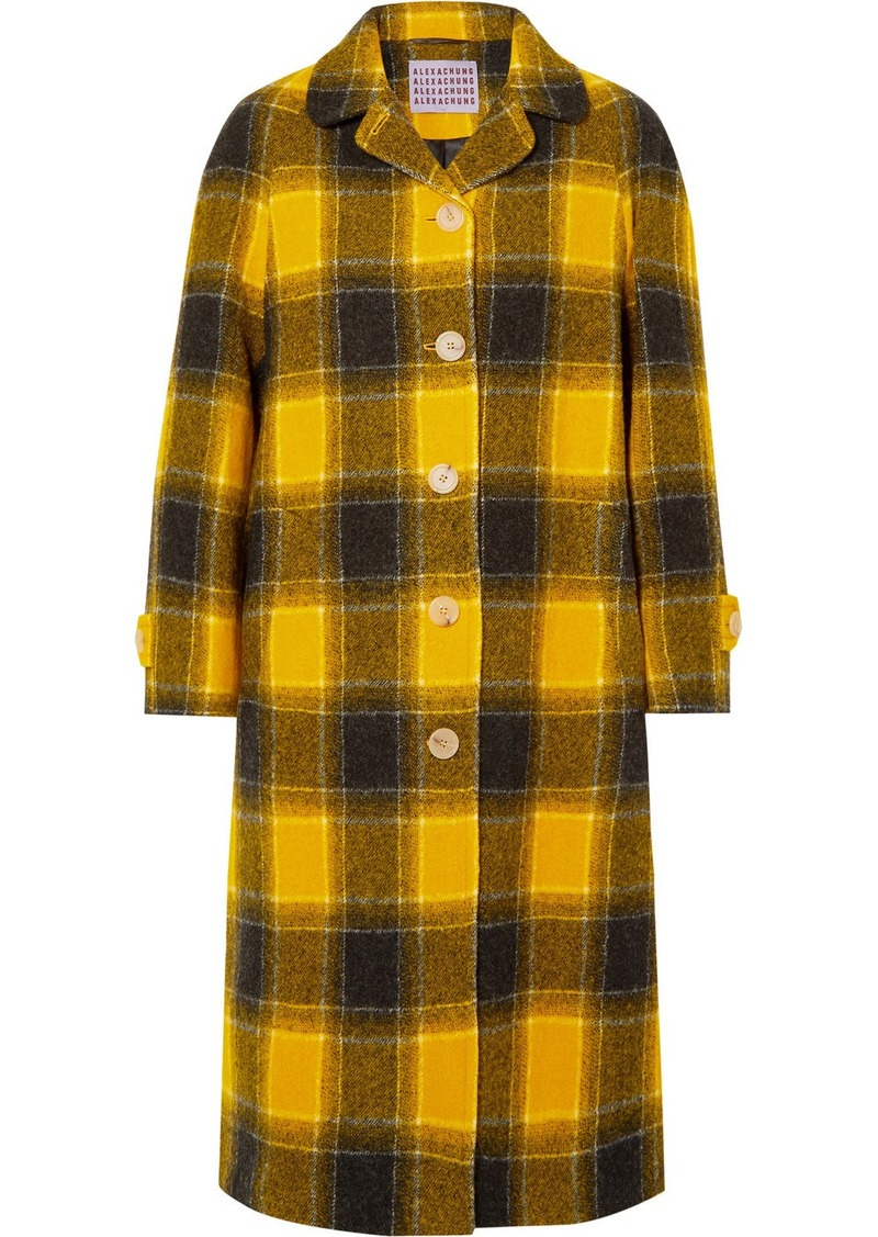 Alexa Chung Oversized Checked Wool Coat