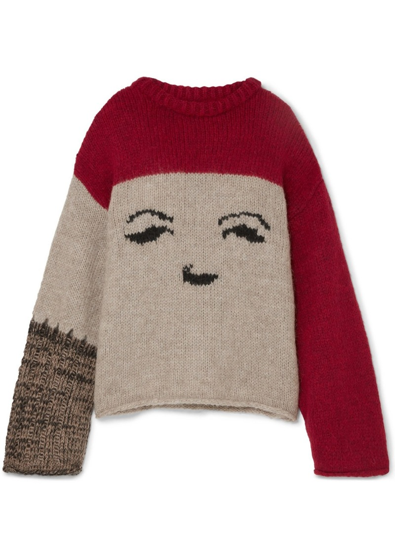 Alexa Chung Oversized Intarsia-knit Sweater