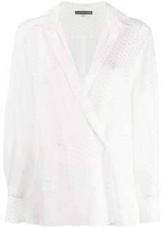 Alexa Chung paisley textured shirt