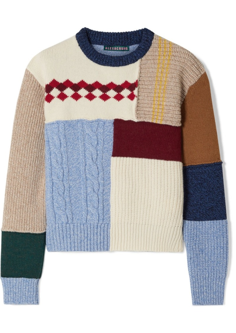 Alexa Chung Patchwork Wool Sweater
