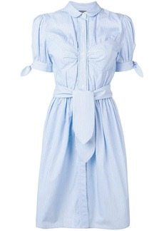 Alexa Chung pinstripe belted shirt dress
