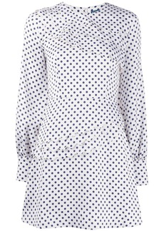 Alexa Chung polka dot flared dress