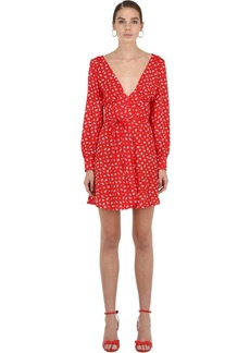 Alexa Chung Printed Wrap Mini Dress