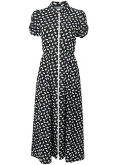 Alexa Chung puff sleeve zip dress