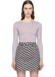 Alexa Chung Purple Long Sleeve Bodysuit