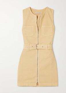 Alexa Chung Rosamund Belted Organic Denim Mini Dress