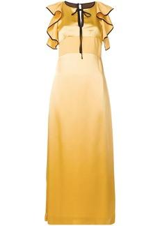 Alexa Chung ruffle detail long dress
