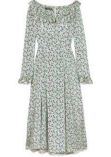 Alexa Chung Ruffle-trimmed Floral-print Voile Midi Dress