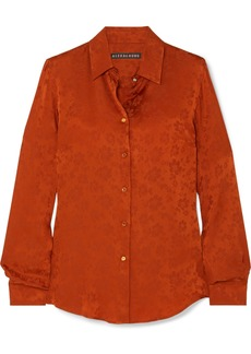 Alexa Chung Satin-jacquard Shirt