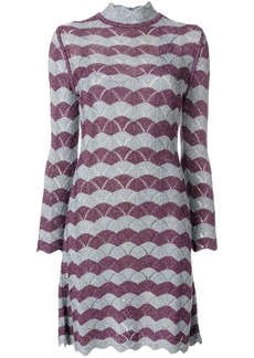 Alexa Chung scallop knit A-line dress