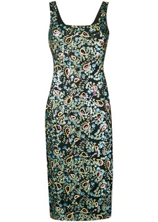 Alexa Chung sequin embroidered dress