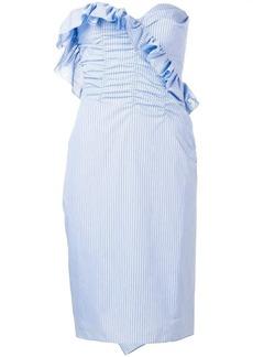 Alexa Chung strapless pinstripe dress