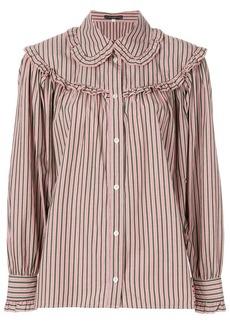 Alexa Chung striped button shirt