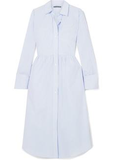 Alexa Chung Striped Cotton-poplin Midi Dress