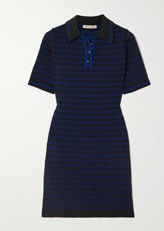 Alexa Chung Striped Jacquard-knit Mini Dress