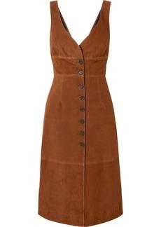 Alexa Chung Suede Midi Dress