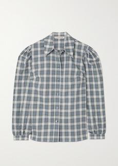 Alexa Chung Torrance Checked Cotton And Linen-blend Shirt