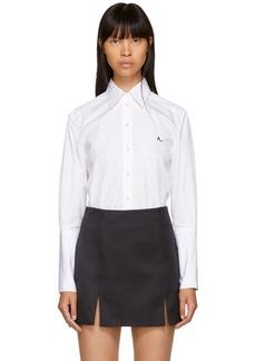 Alexa Chung White Deep Cuff Poplin Shirt