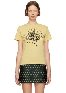 Alexa Chung Yellow Boxy Motorcycle T-Shirt
