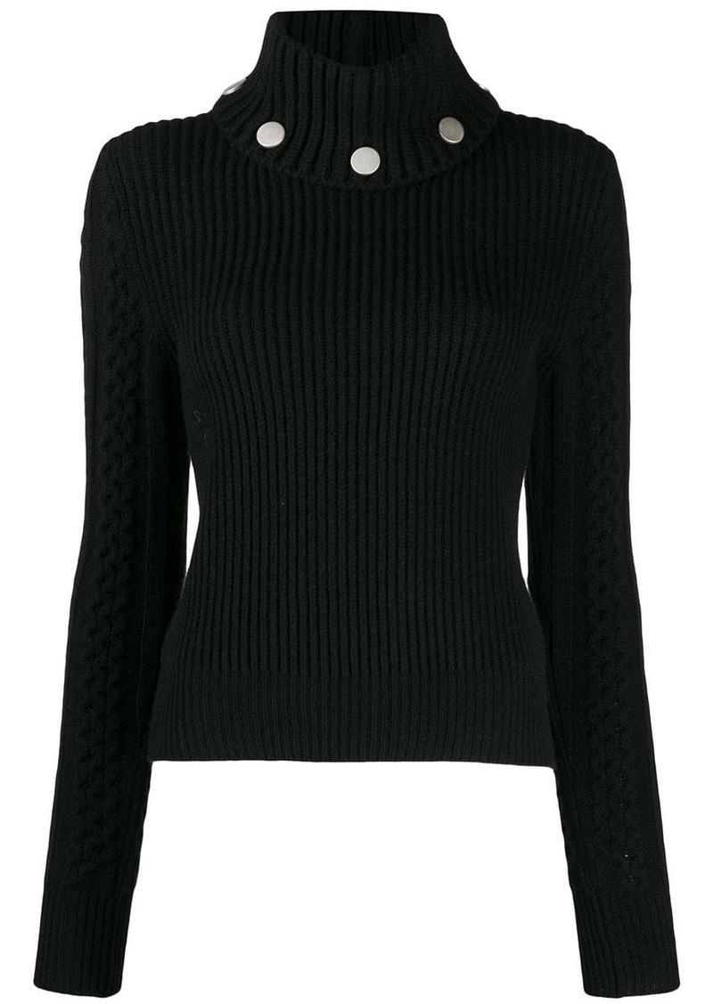 Alexander McQueen studded ribbed knit jumper