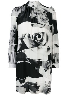Alexander McQueen Torn Rose print dress