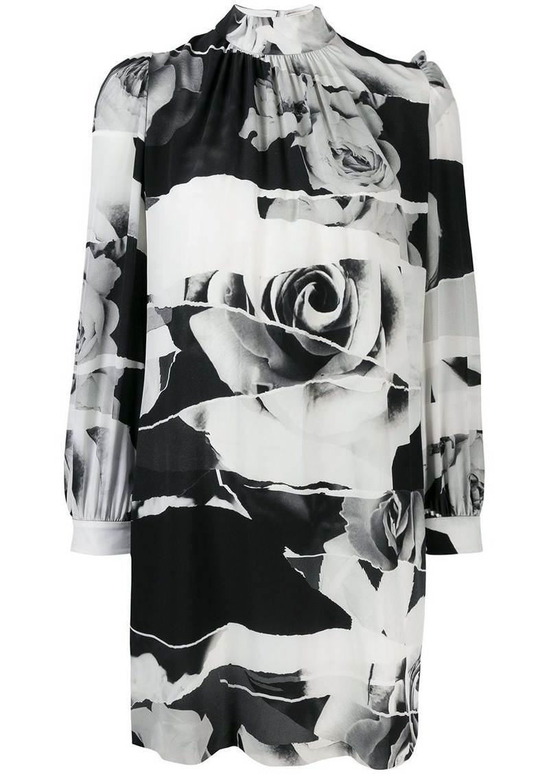 Alexander McQueen Torn Rose print dress