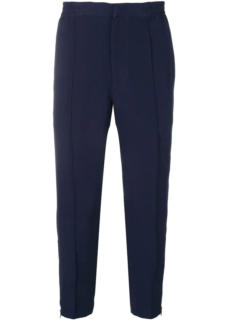 Alexander McQueen track style cropped trousers