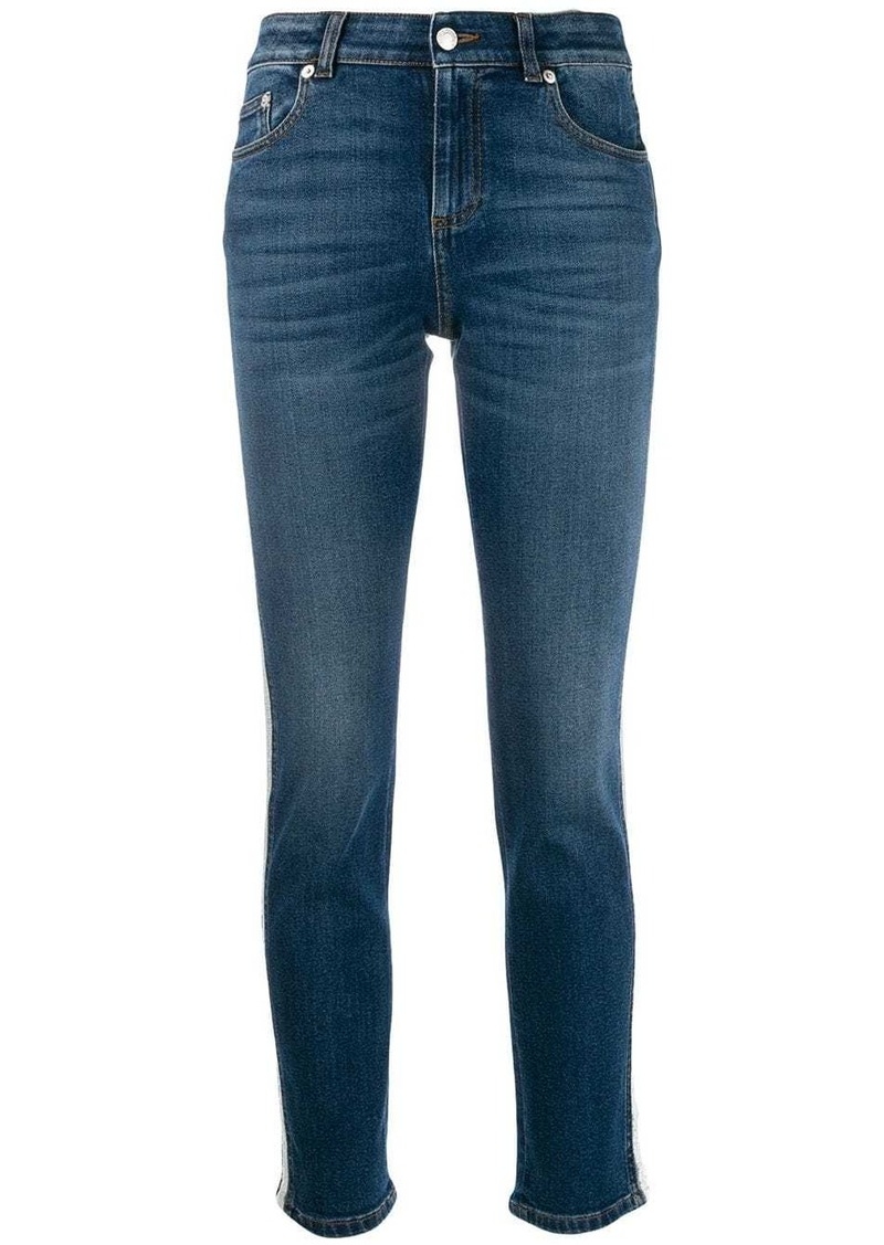 Alexander McQueen side piped skinny jeans