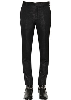 Alexander McQueen 17cm Slim Fit Wool & Lurex Pants