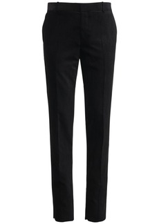 Alexander McQueen 17cm Velvet Cotton & Tech Pants