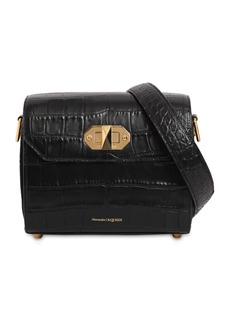 Alexander McQueen 21.5 Box Bag Croc Embossed Leather Bag