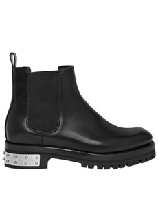 Alexander McQueen 30mm Leather Chelsea Boots