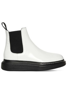 Alexander McQueen 40mm Hybrid Leather Chelsea Boots