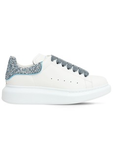 Alexander McQueen 40mm Leather & Glitter Sneakers