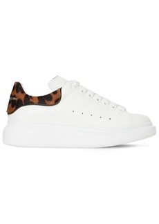 Alexander McQueen 40mm Leather & Ponyskin Sneakers