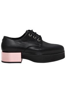 Alexander McQueen 40mm Mirror Heel Leather Lace-up Shoes