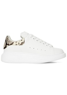 Alexander McQueen 40mm Snake Print Leather Sneakers