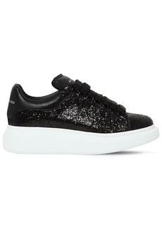 Alexander McQueen 45mm Glitter & Leather Sneakers