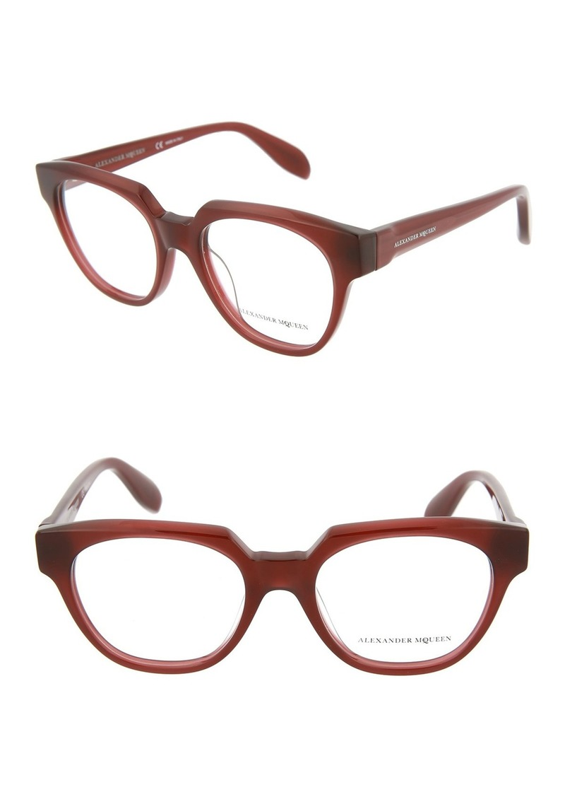 Alexander McQueen 49mm Acetate Optical Frames