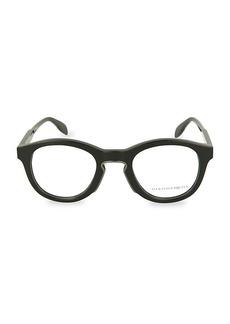 Alexander McQueen 49MM Oval Optical Glasses