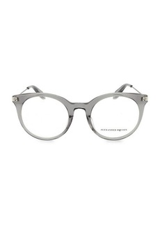 Alexander McQueen 49MM Round Optical Glasses
