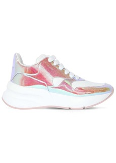 Alexander McQueen 50mm Leather & Glittered Sneakers