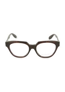 Alexander McQueen 52MM Rectangular Optical Glasses