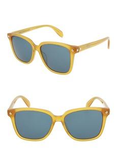 Alexander McQueen 53mm Acetate Frame Square Sunglasses