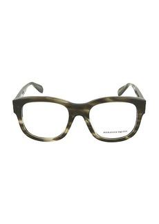 Alexander McQueen 53MM Square Optical Glasses