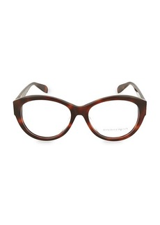 Alexander McQueen 54MM Oval Optical Glasses