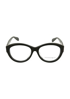 Alexander McQueen 54MM Round Optical Glasses