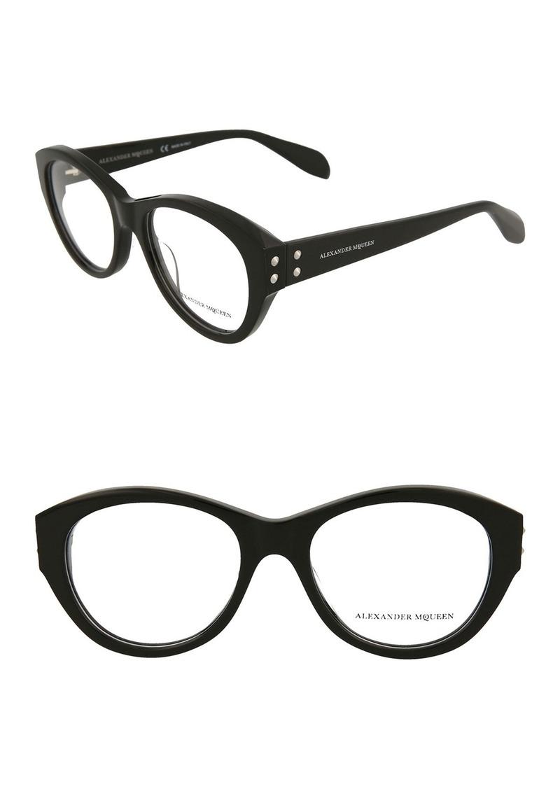 Alexander McQueen 55mm Acetate Optical Frames