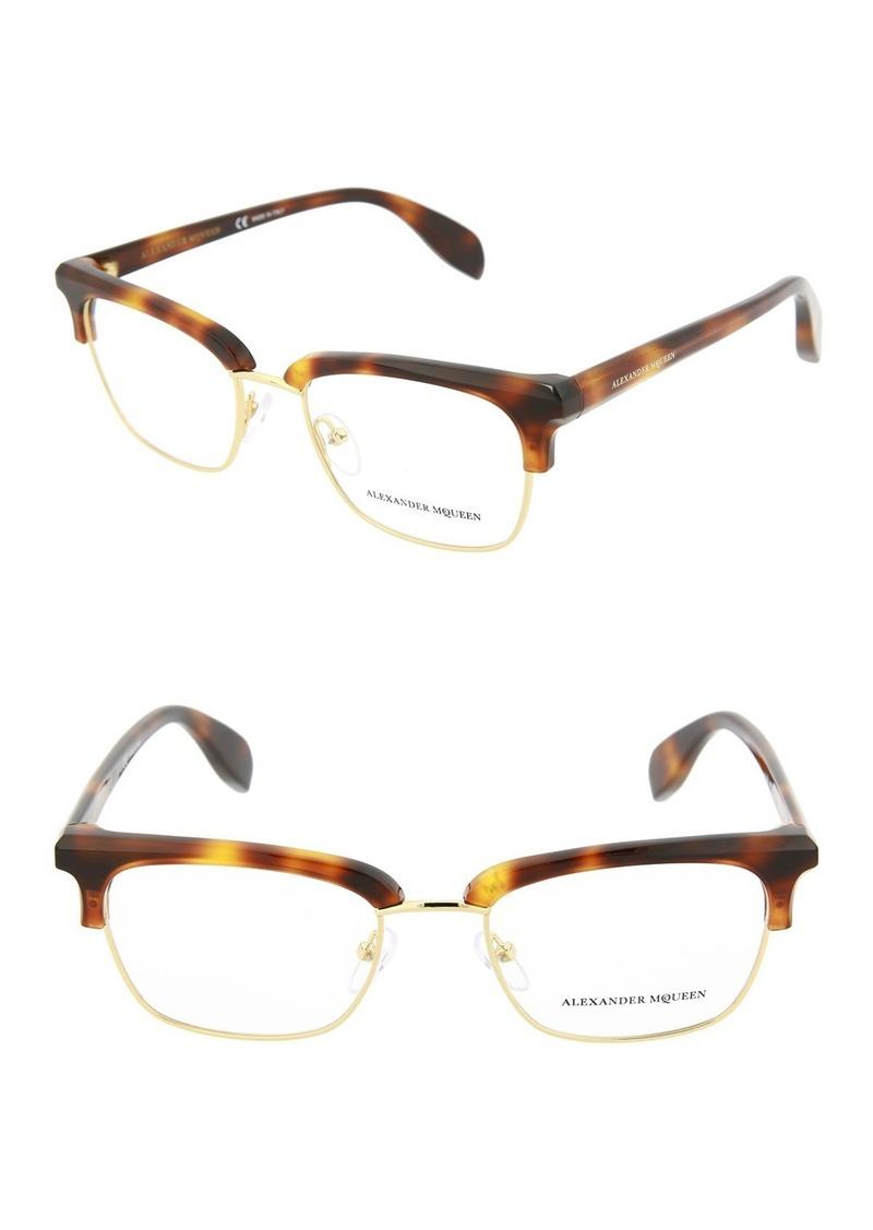 Alexander McQueen 56mm Acetate Metal Optical Frames