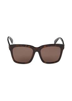 Alexander McQueen 56MM Square Sunglasses